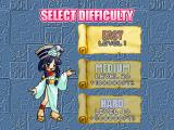 Cleopatra's Fortune PlayStation Difficulty selection