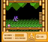 Kirby's Adventure NES You fight this beetle guy a few times. He teaches you how to thrown down.