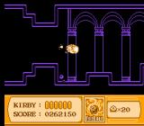 Kirby's Adventure NES Fireball power-up is handy in this dark level. Find a light and turn it on.