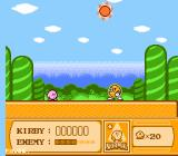 Kirby's Adventure NES The bosses of this level are the sun and the moon, taking turns beating you.
