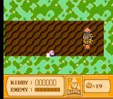 Kirby's Adventure NES An interesting boss confrontation. While this boss tears through this level you must follow him and shoot when his rear panels open to shoot you. It's as tough as it sounds!