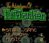 The Adventures of Dr. Franken SNES Title Screen
