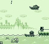 Game & Watch Gallery 2 Game Boy Modern Parachute: I missed one and Pukupuku gives chase.