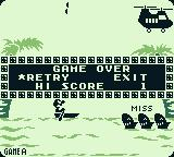 Game & Watch Gallery 2 Game Boy Classic Parachute: I missed too many. Game over. Retry or exit?