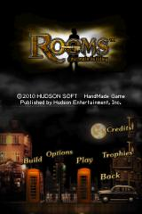 Rooms: The Main Building Nintendo DS Title screen with main menu.