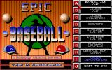 Epic Baseball DOS Title screen (shareware version).