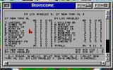 Epic Baseball DOS The game's boxscore.