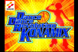 Dance Dance Revolution: Konamix PlayStation Title screen.