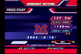 Dance Dance Revolution: Konamix PlayStation Workout mode allows you to modify several settings depending on your weight and goals for the day.