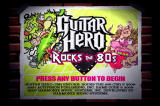 Guitar Hero Encore: Rocks the 80s PlayStation 2 Gnarly title screen!