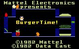 BurgerTime Intellivision Title screen