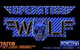 Operation Wolf Amiga Title screen