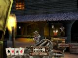 Gunfighter: The Legend of Jesse James PlayStation Using the gatling gun.