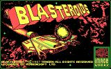 Blasteroids DOS Title screen (CGA)