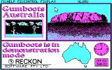 Gumboots Australia DOS Title screen.