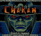 Chakan Game Gear Title screen
