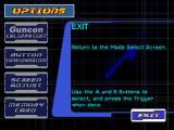 Time Crisis: Project Titan PlayStation Options menu