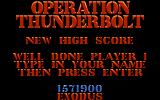 Operation Thunderbolt Amiga Name Entry