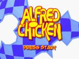 Alfred Chicken PlayStation The title screen