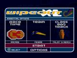 WipEout XL PlayStation Main menu