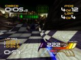 WipEout XL PlayStation The Q power-up lifts the whole track up like a rug.