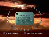 Thunderstrike 2 PlayStation Name entry