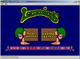 Lemmings & Oh No! More Lemmings Windows Title screen