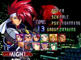 Psychic Force 2012 Windows Fighter selection