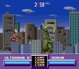 Ultraman SNES Fighting in a city