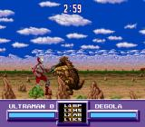 Ultraman SNES Fighting Degola in stage 3