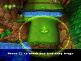 Frogger 2: Swampy's Revenge PlayStation Using the croak to find out where the little frogs are.