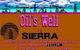 Oil's Well DOS Title screen (EGA)