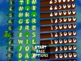 Frogger PlayStation Main menu and high scores table