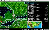 Roadwar 2000 Amiga A small overview map is available