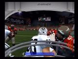 ESPN NFL Football Xbox Making a first-person running play.
