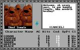 Tales of the Unknown: Volume I - The Bard's Tale Amiga Inside a temple