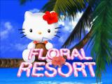 Hello Kitty's Cube Frenzy PlayStation Floral Resort title screen