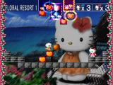 Hello Kitty's Cube Frenzy PlayStation First level of the Floral Resort stage