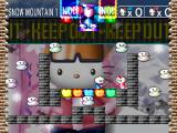 Hello Kitty's Cube Frenzy PlayStation Versus mode - Snow Mountain stage