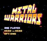 Metal Warriors SNES Title screen