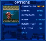 Metal Warriors SNES Main options