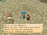Harvest Moon: Back to Nature PlayStation Town square
