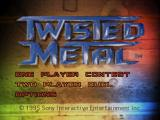Twisted Metal PlayStation Main menu
