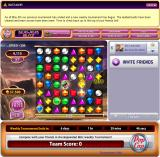 Bejeweled Blitz Browser The glowing gems will explode when  lined up with two or more others, destroying all surrounding gems