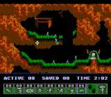 Lemmings NES Turn the little suckers into diggers, and you have solved the level