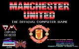 Manchester United DOS Title screen