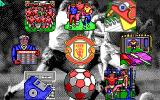 Manchester United DOS Main menu