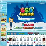 Geo Challenge Browser Introduction screen
