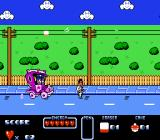 Cool World NES Dodging a police wire and trying to avoid the electricity from the wires