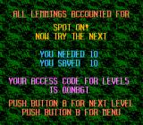 Lemmings NES Completed a level